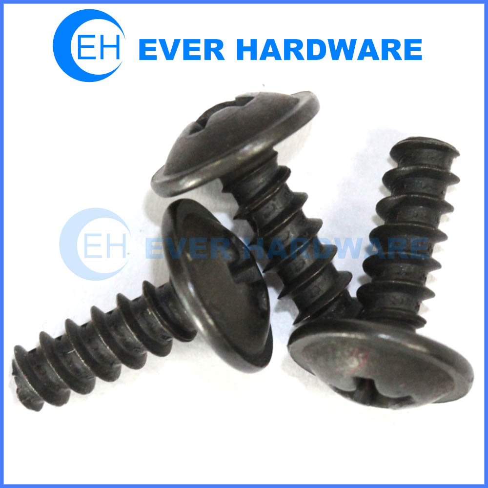 Type B Screw Mushroom Washer Head Taping For Wood Plastic