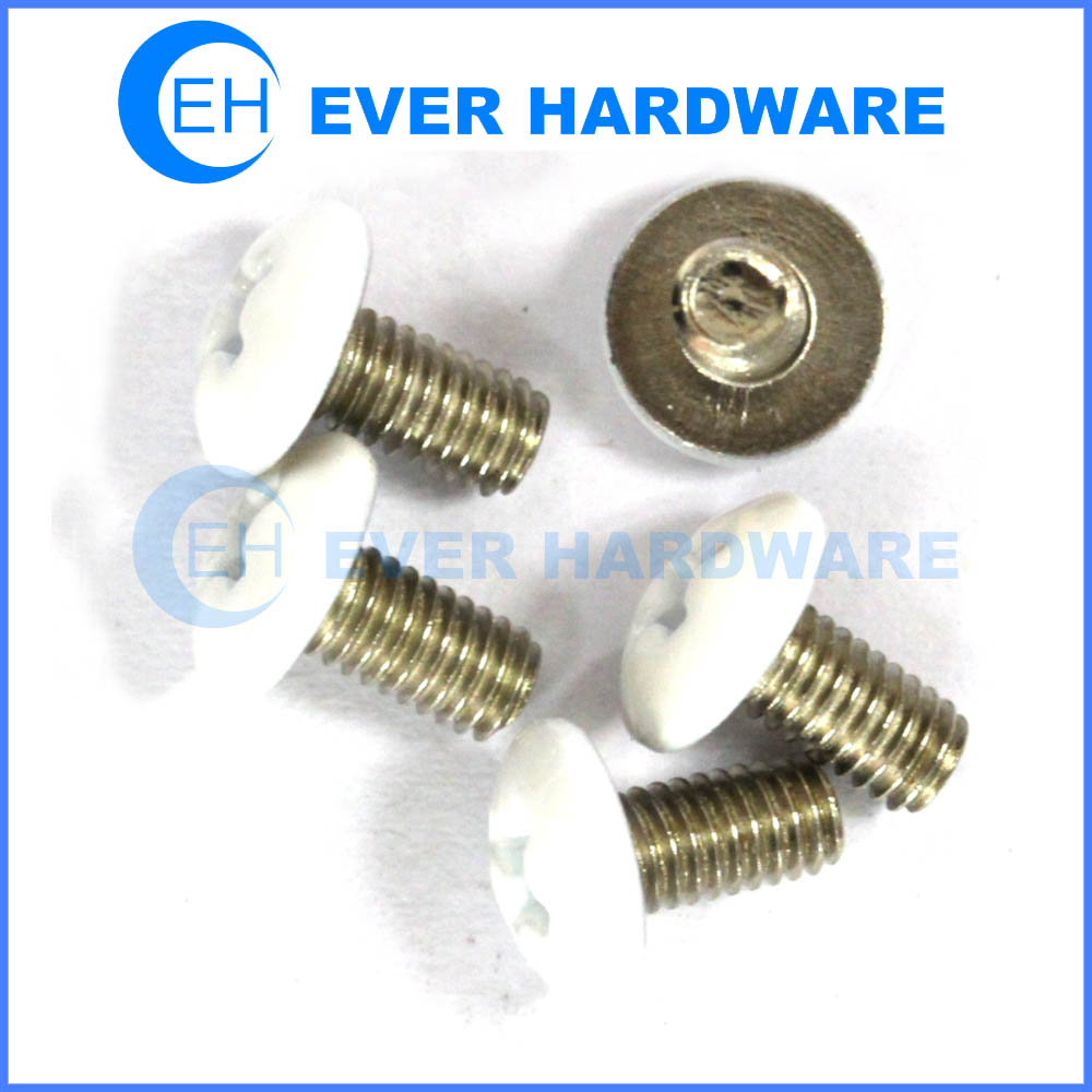 White head bolt color coating head screws fasteners nails
