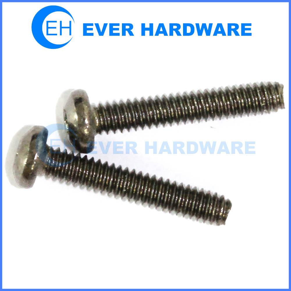 Black finish machine screw phillips drive pan head nickel plating fastener