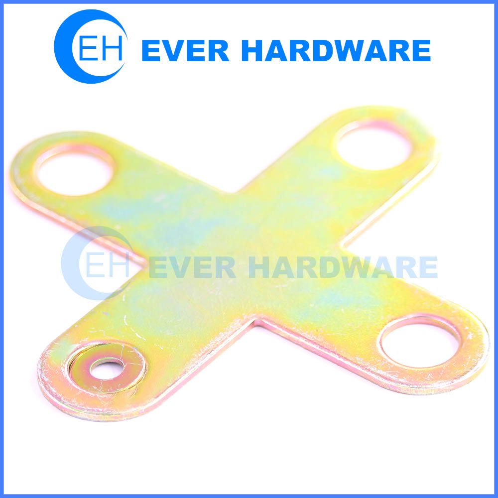 Cross shaped mending plate metal products furniture part angle bracket