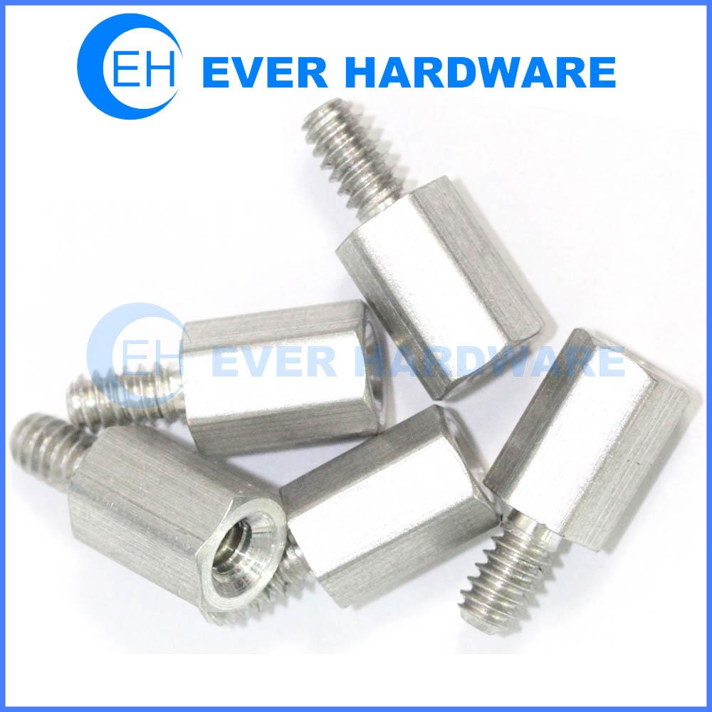 Female male standoff hex aluminum threaded spacers adapter accurate