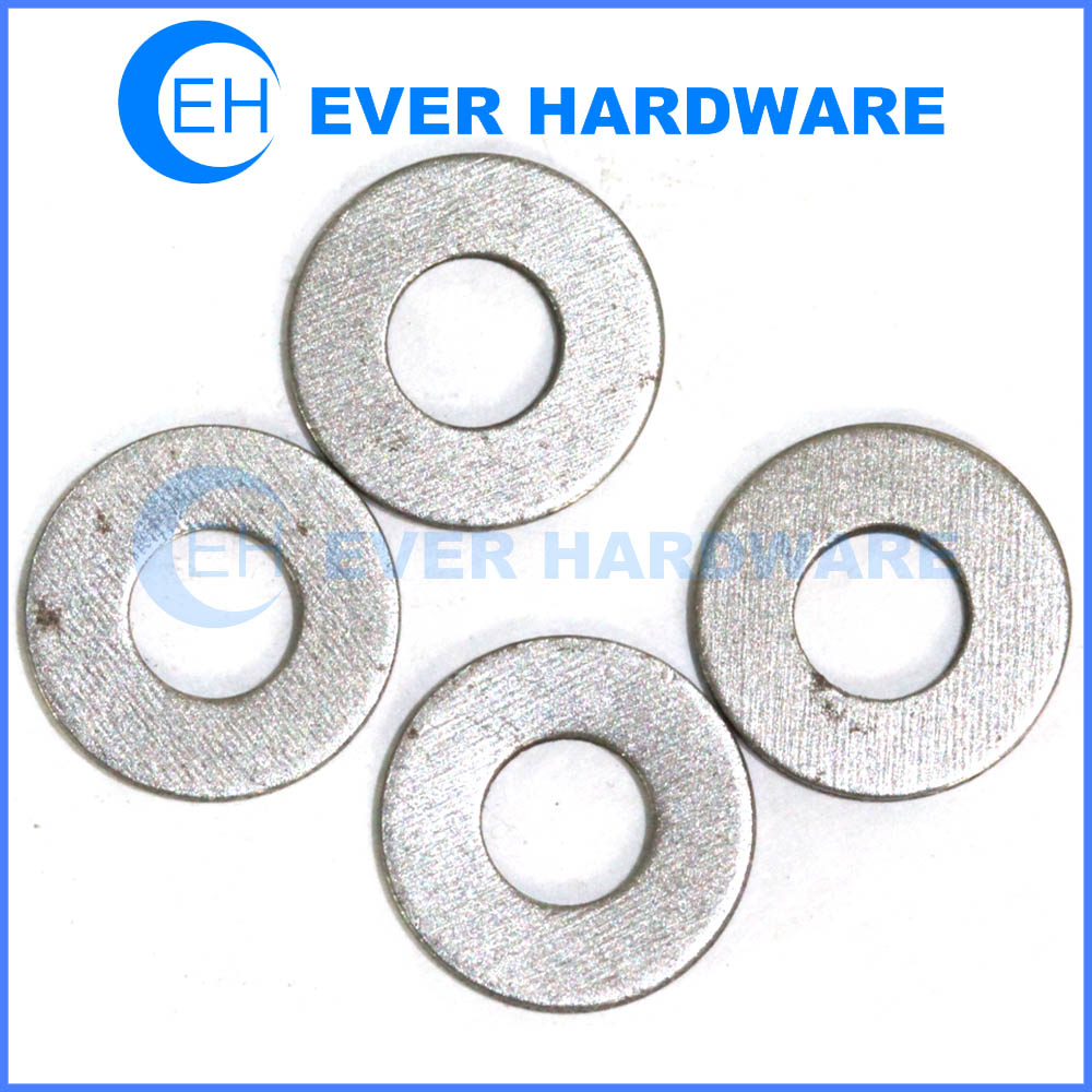 Flat metal washer stainless steel metric commercial corrosion resistant