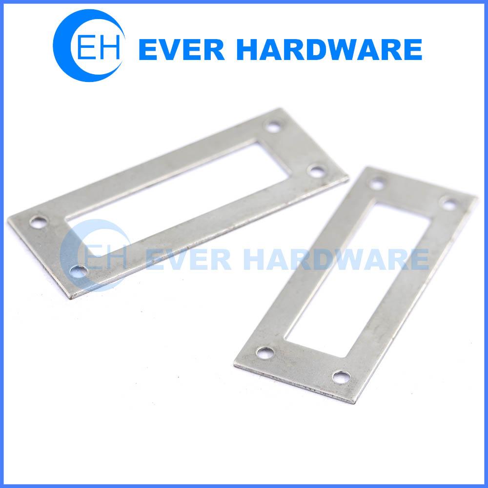 Flat single pattern bracket powder coated metal galvanised jointing plate
