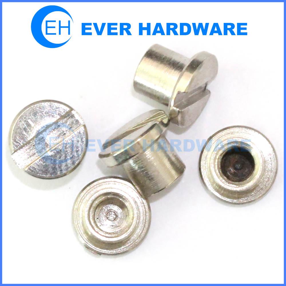 Internal thread screw female slotted flat head machine threaded galvanize