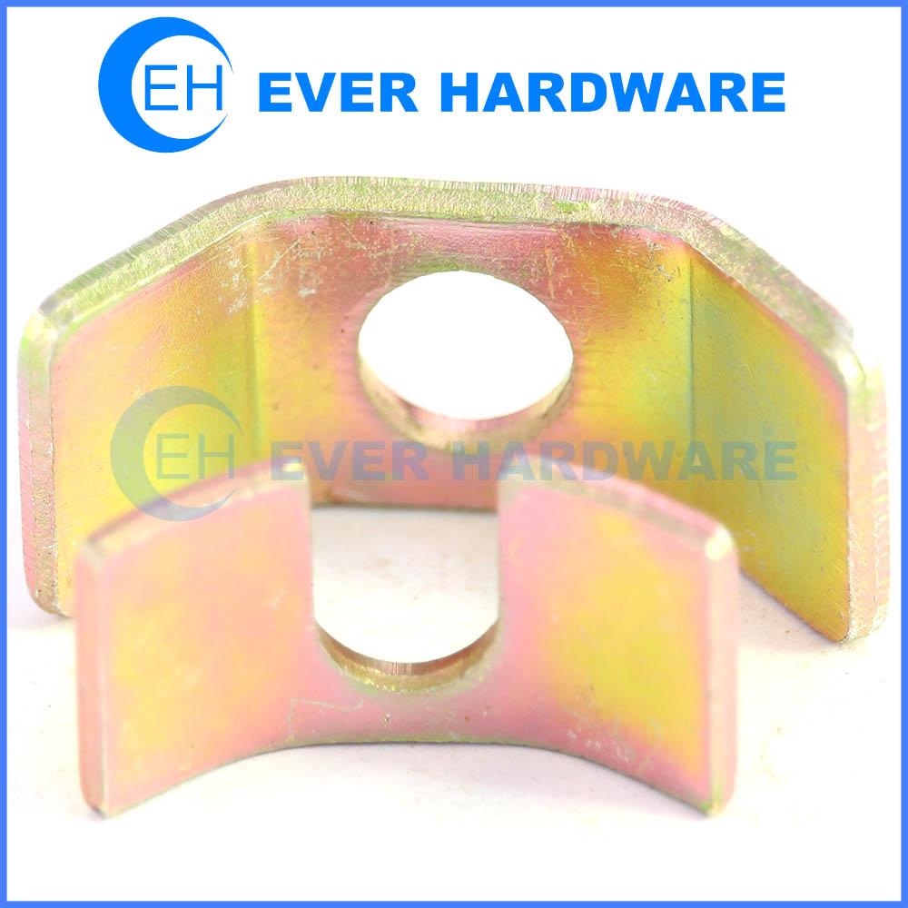 Locking metal plate strike plates hardware non-slip strap locking clip