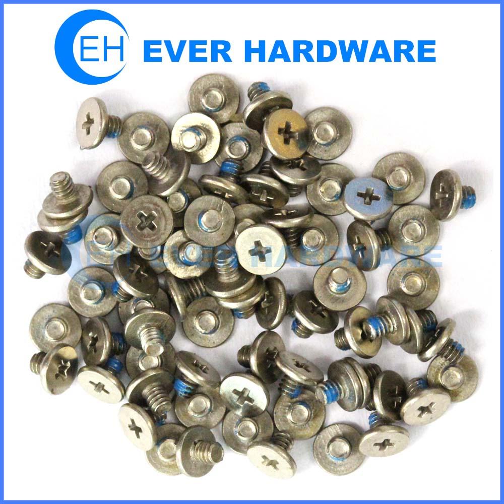 Miniature metric screw blue nylon patch machine precision thin nail