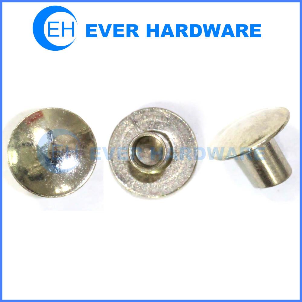 Semi tubular rivet metal hollow rivets brass steel stainless custom