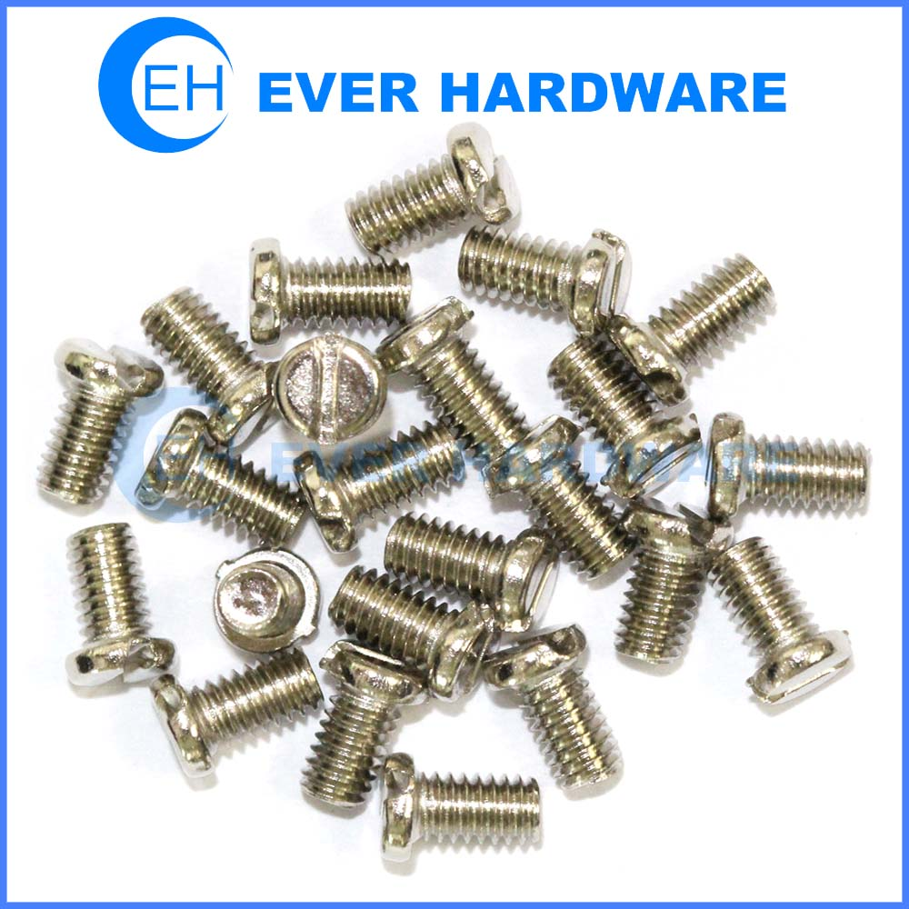 Slotted machine screw metric pan head stainless steel plain right hand
