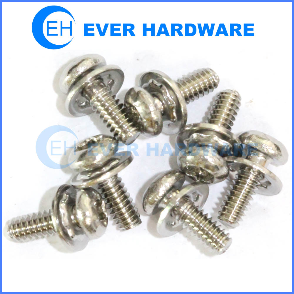 Square conical washer SEMS machine screw torx pan head stainless steel