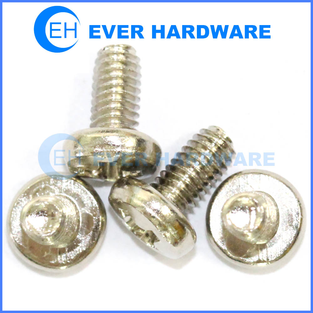 Thread rolling screws phillips drive pan head zinc finish steel fastening into materials