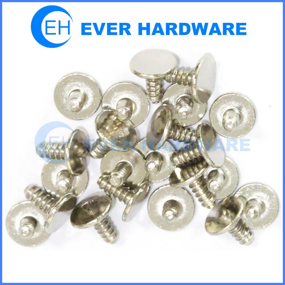 Threaded rivets harpoon round flat head solid aluminum rivet locking insert