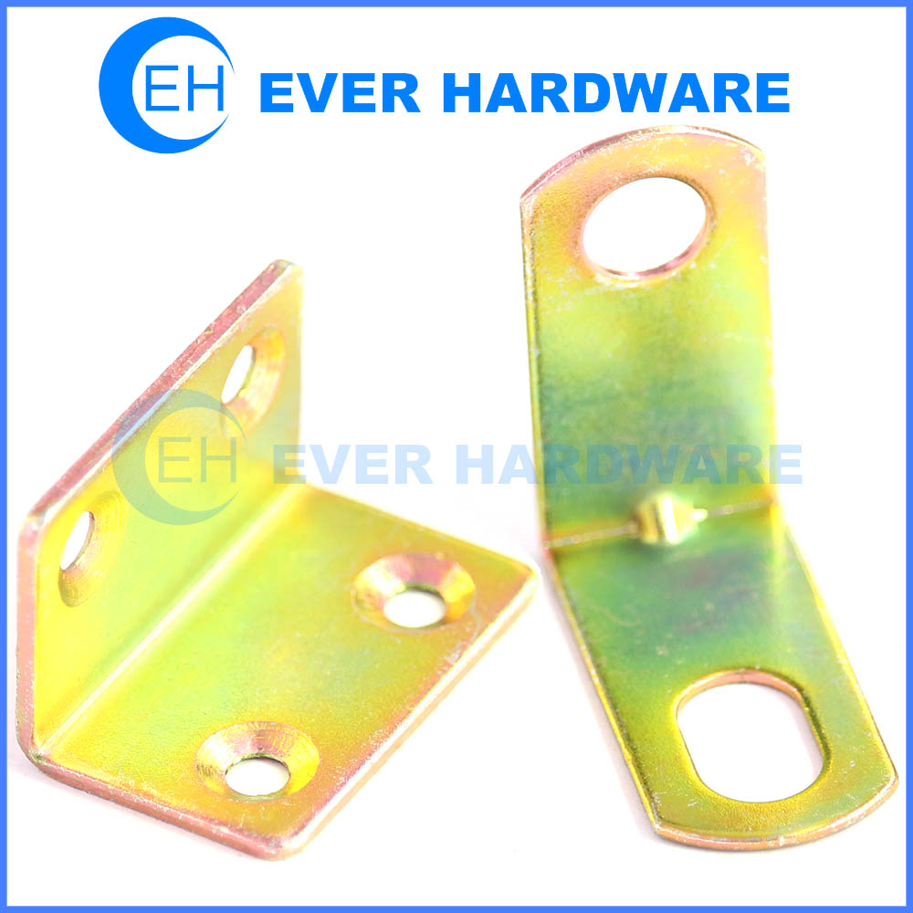 Zinc boxed braces heavy duty corner bracket hole mending plate hardware