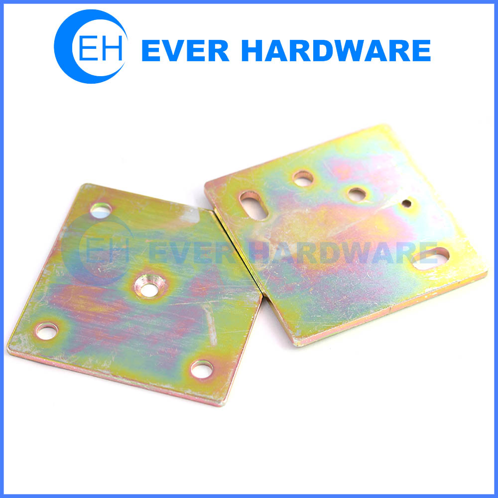 Zinc boxed flat brace square galvanizing builders hardware corner bracket