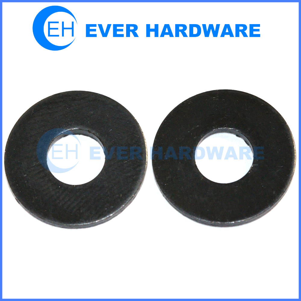 Zinc finish flat washer low carbon steel general purpose black coating