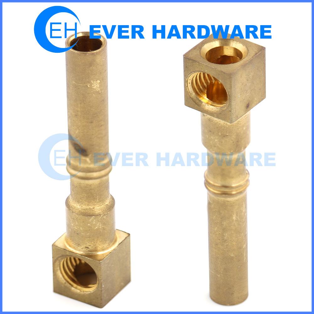 Brass Pins Square Socket Internal Threaded Electrical Plug Lock Pin
