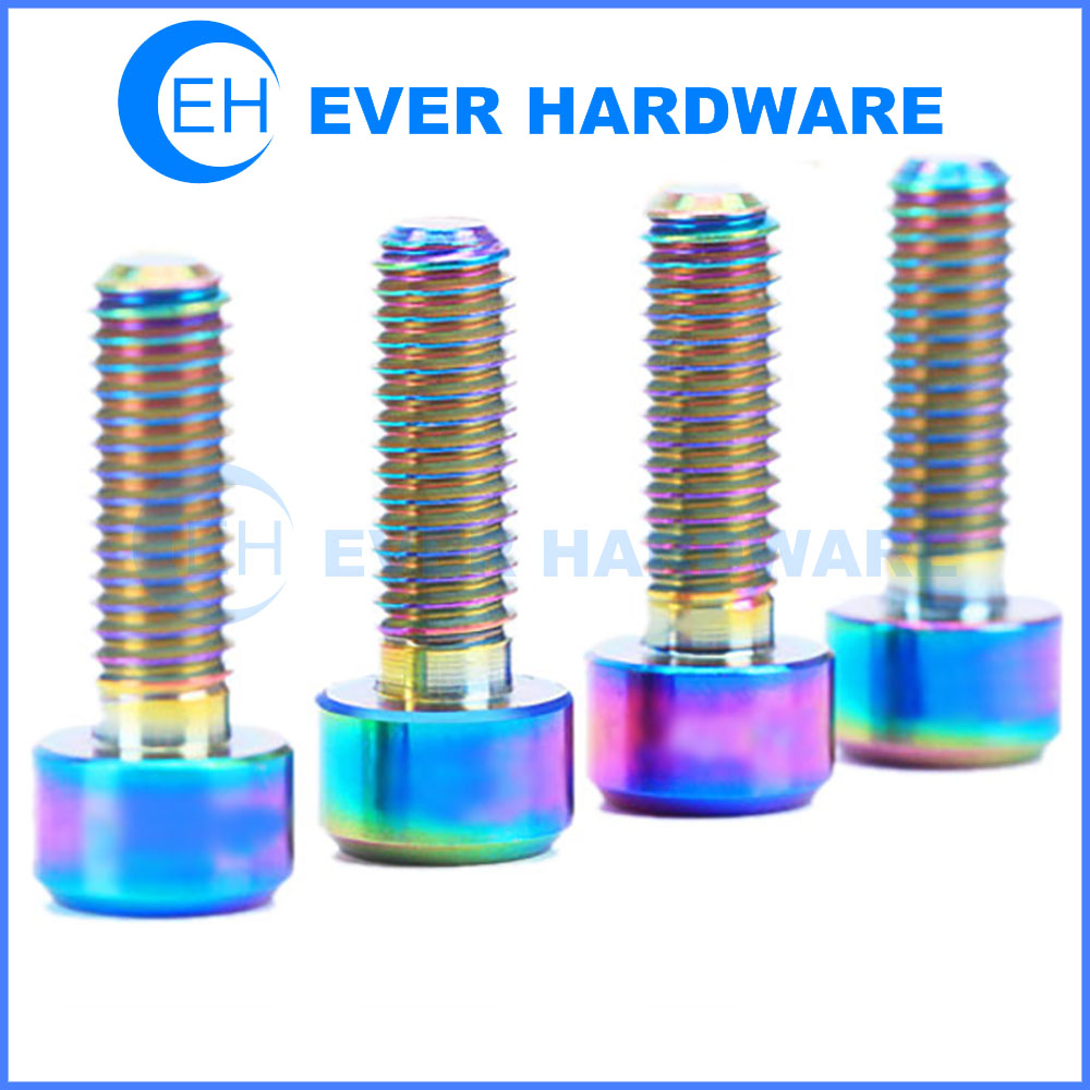 Decorative Fasteners Screws Bike Titanium Ti Bolts Allen Hex Tapered