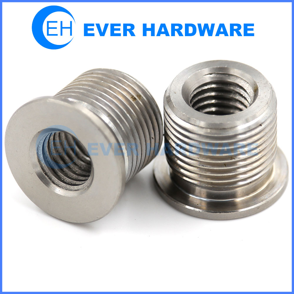 Double Threaded Nuts Precision Custom Made Stainless Steel Supplier