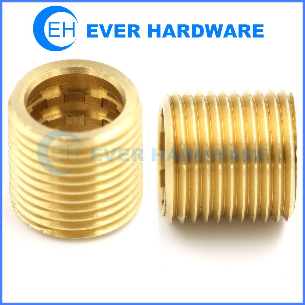 Helical Threaded Fastener Brass Insert Customize External Tooth Nut