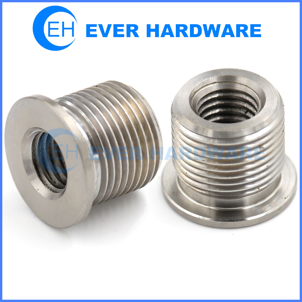 Metal Inserts Double Machine Right Handed Threaded Stud Nuts Custom