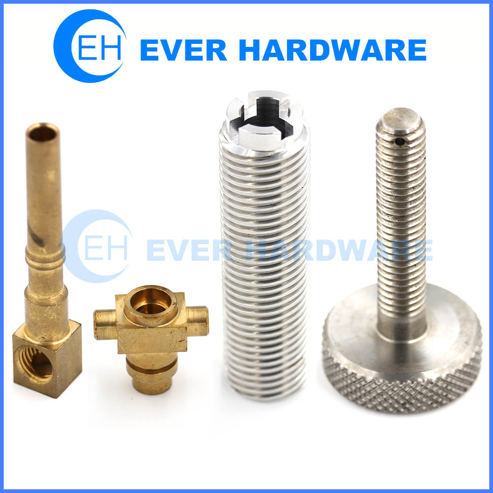 Precision Hardware Parts CNC Turning Machine Bronze Brass Al SS