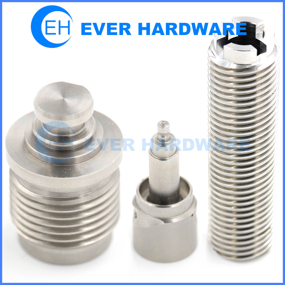 Screw Thread Parts Imperial Metric Threading Customized Machining