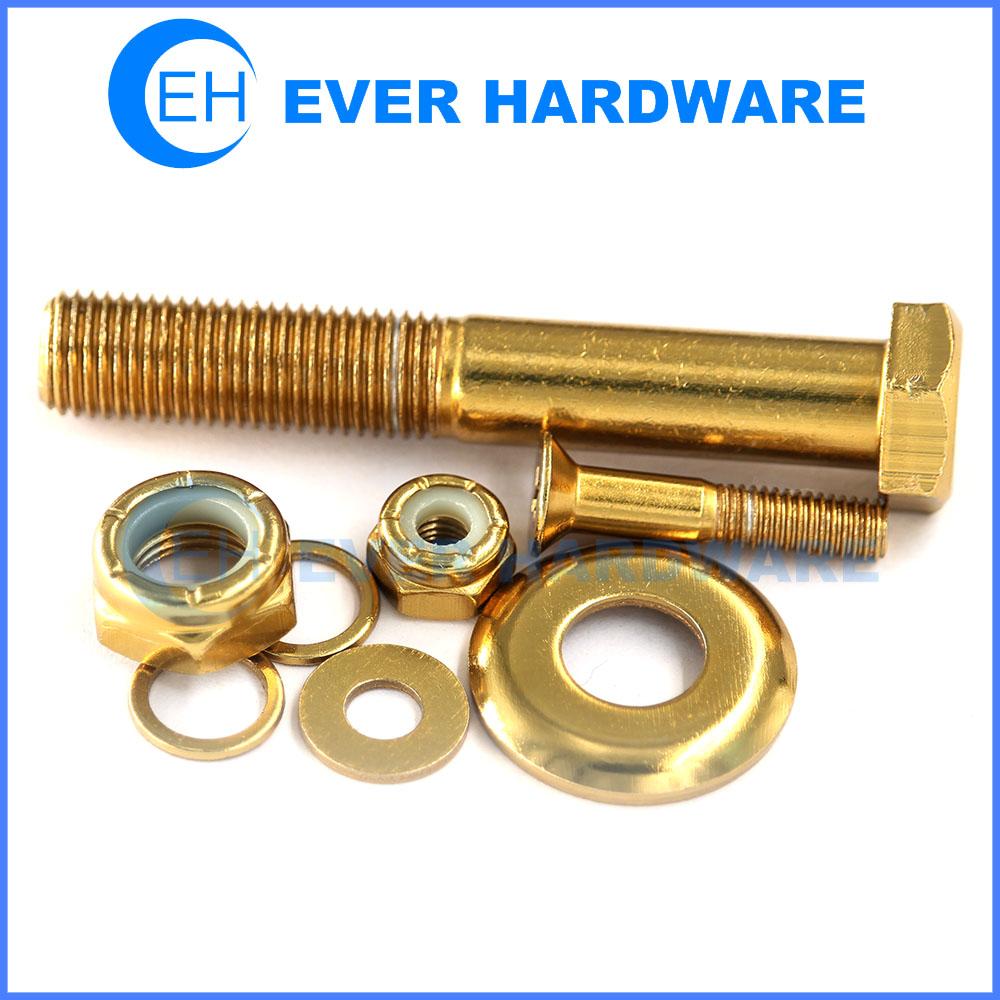 Screw Washer Nut Colored Machine Thread Locking Deck Mounting