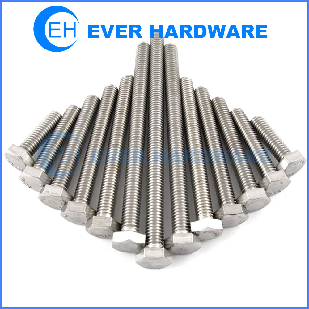 Screws & Bolts Stainless Steel Hexagon Head Metric Imperial Fasteners