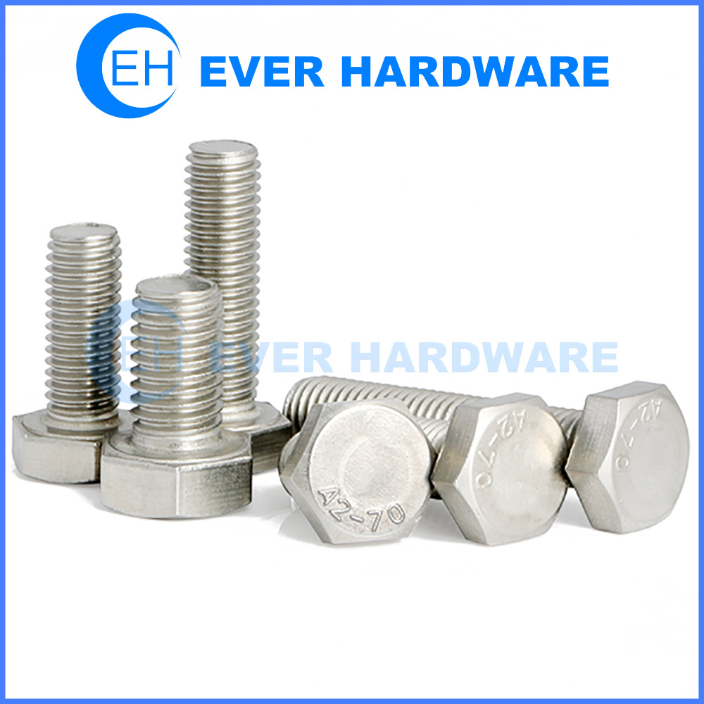 Stainless Steel Metric Bolts Hexagon Cap Head Imperial Threaded