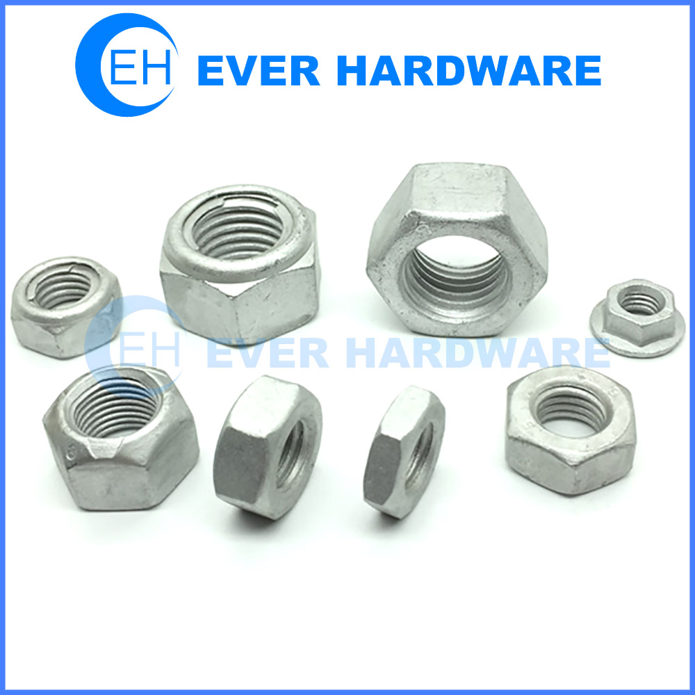 Steel Nuts Dacromet Coating Hex Flange Thick Thin Automotive Nut