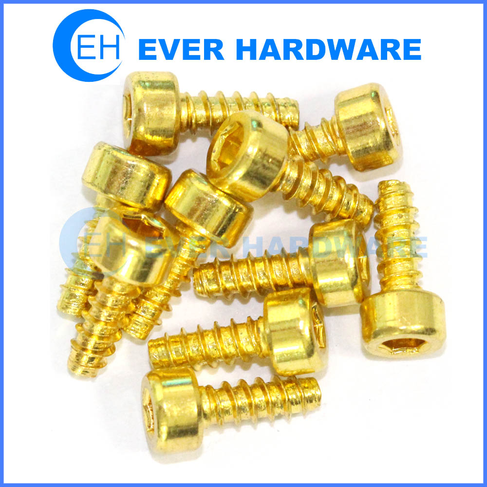 Steel Screws Hex Socket Cylinder Head Self Tapping Fastener Flat End