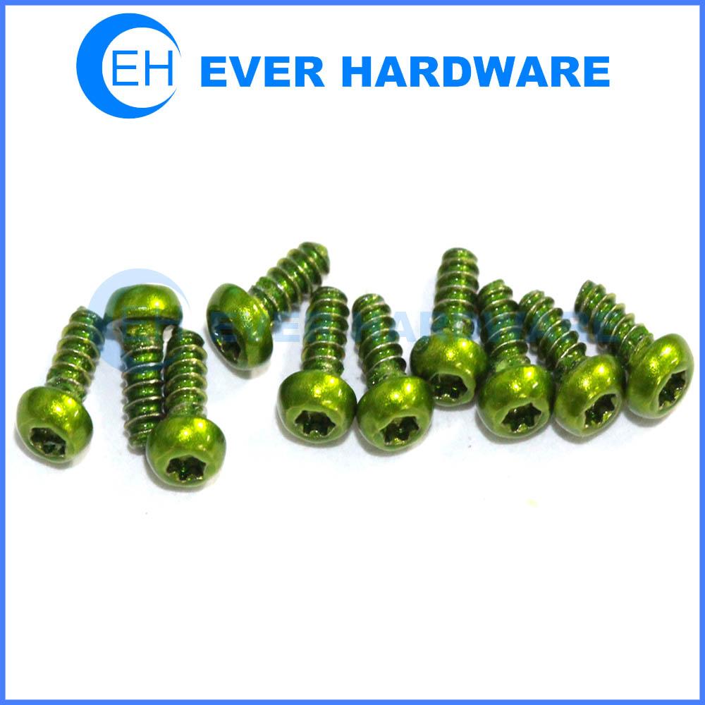 Torque Screw Green Galvanizing Small Pan Head Plastic Form Threaded