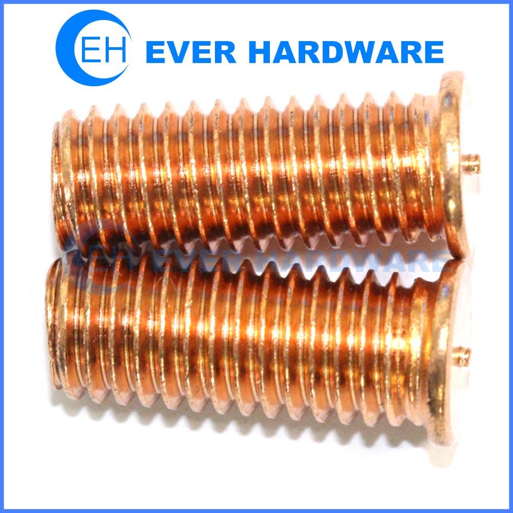 Weld Screws CD Welding Stud Copper Coated Head Bolts Fastener Studs
