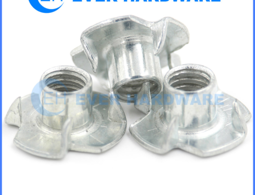 Blind Nuts For Wood Four Pronged Captive Threaded Furniture Inserts