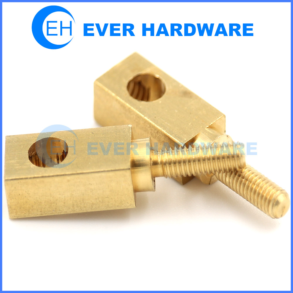 Custom Standoffs Brass Male Female PCB Hole Spacers Stepped Square