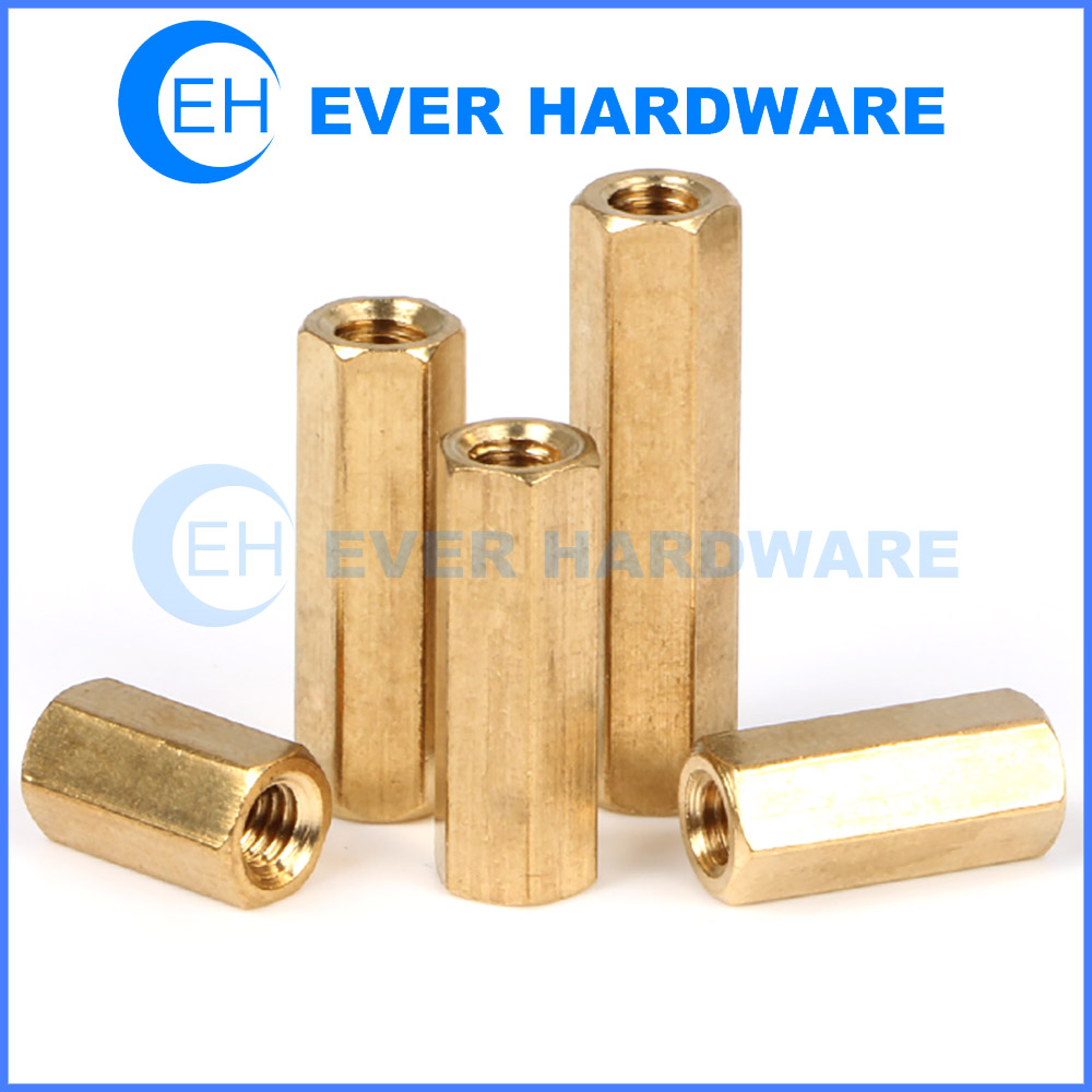 Female Standoff Brass Coupler Nut Spacer PC Machine Board Pillar Rod
