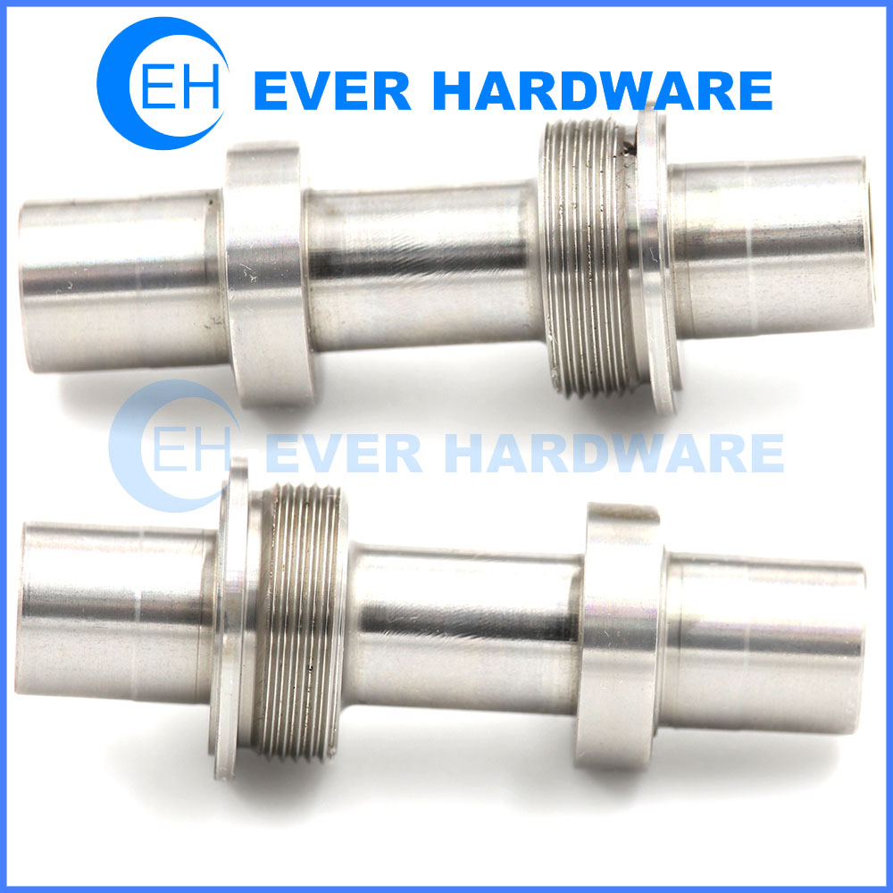 Machining Automotive Parts Stainless Steel Forging Metallic Threaded