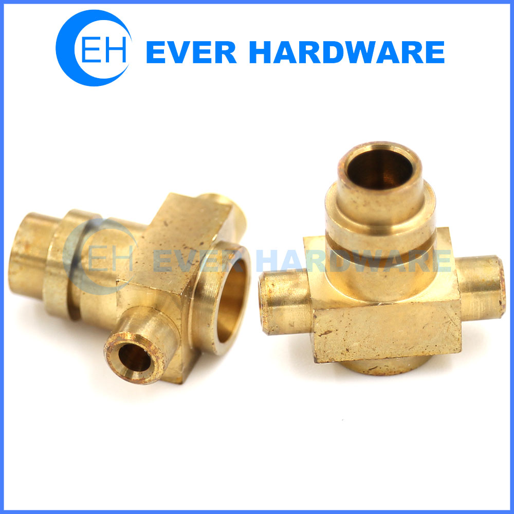 Machining Forged Parts Brass Valve Body Connector CNC Lathe Precision