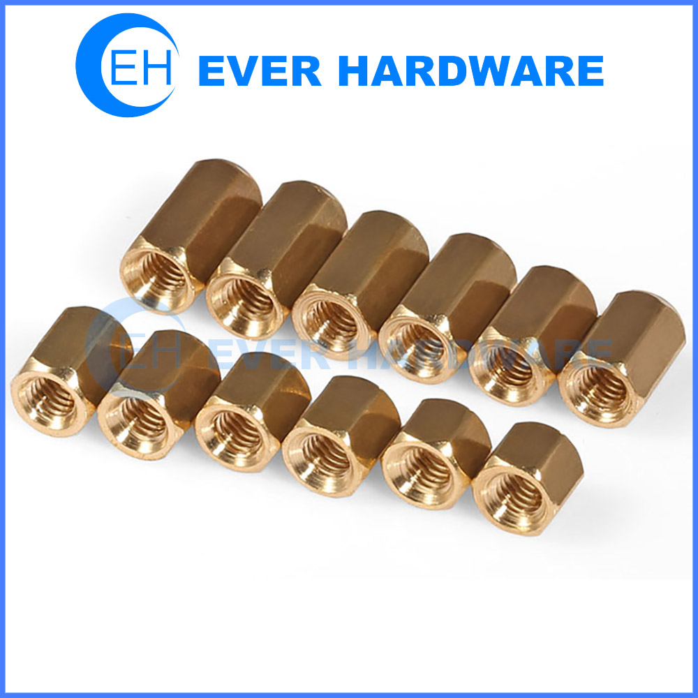 Metric Spacers Threaded Electronic Hardware Hexagonal Coupling Nuts