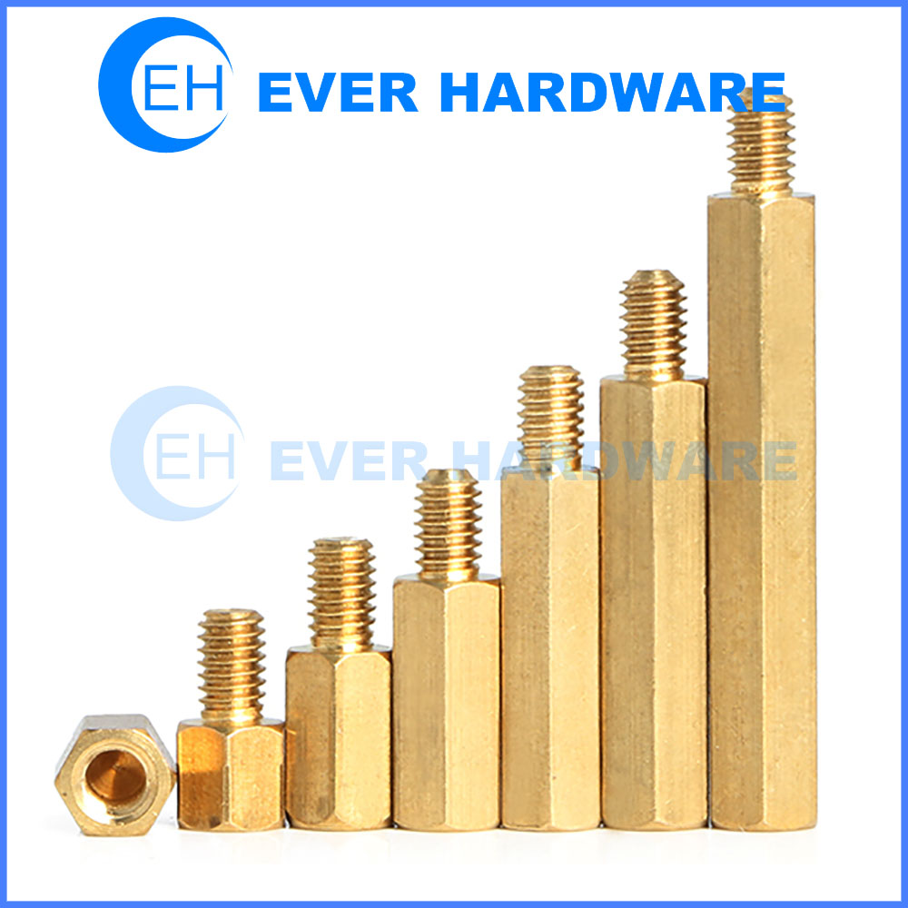 Mounting Standoffs Hexagon Male Female Brass PCB Nut Screw Coupling