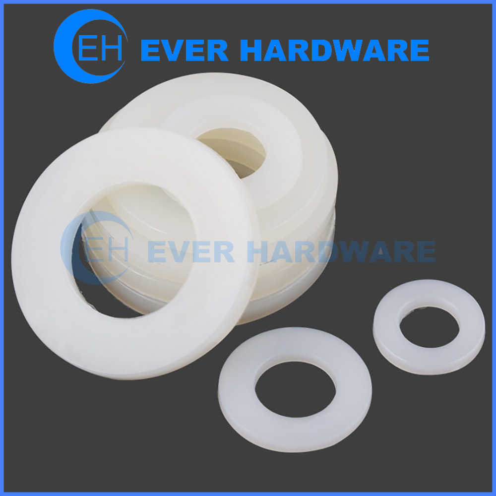 Nylon Washers Flat White Solid Polymer Thrust Form A Plastic Teflon