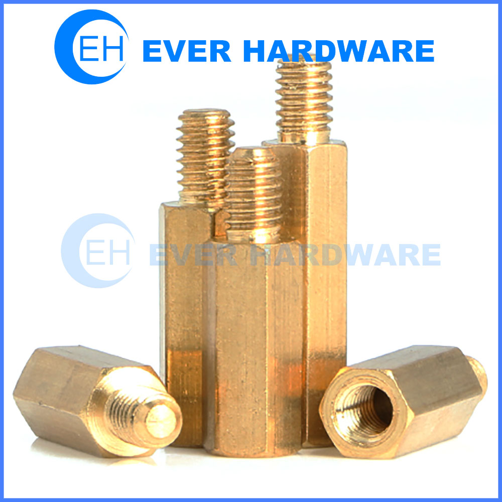 Panel Standoffs Brass Hex Nuts Bolts Electronic Hardware Spacer