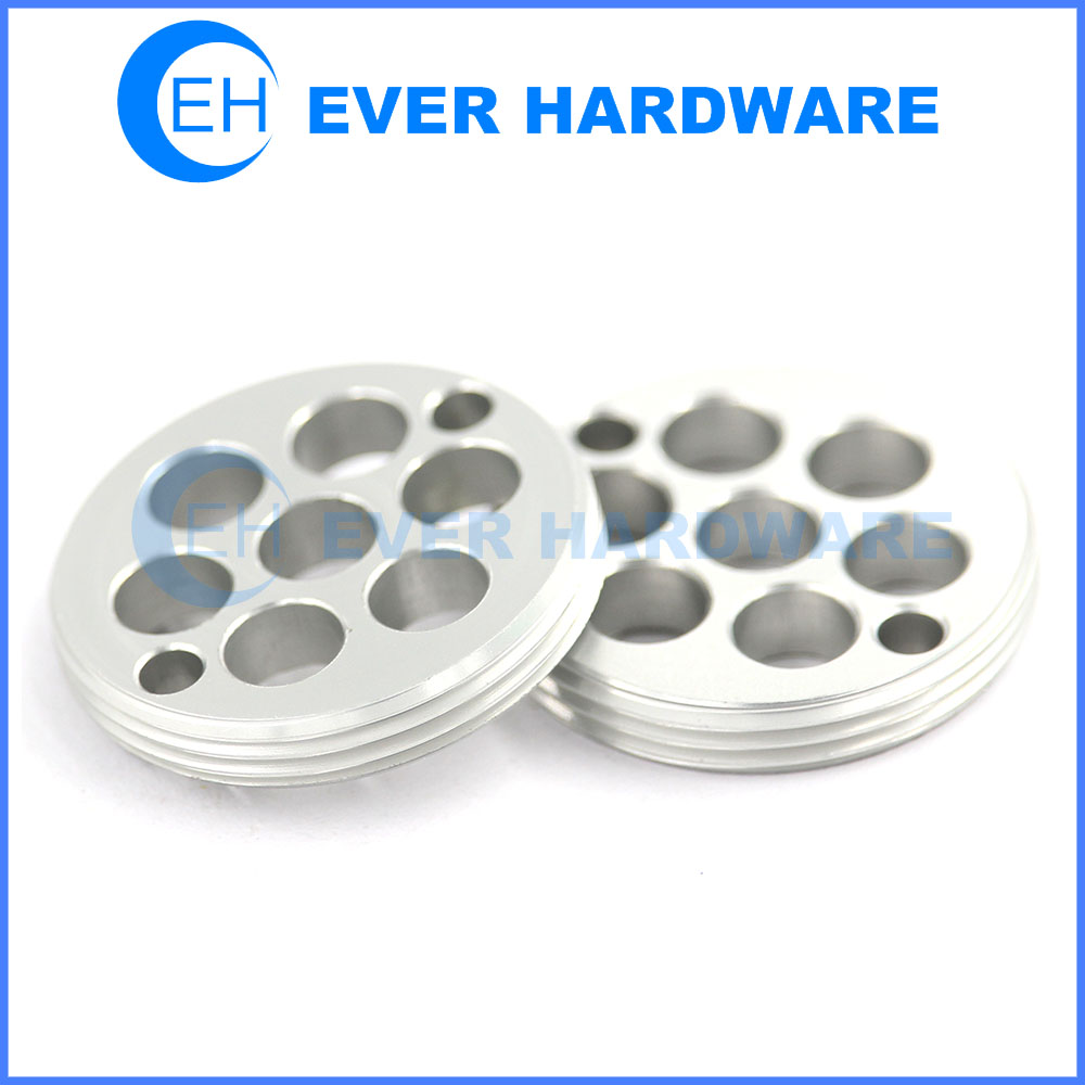 Peek Machined Parts Axis Mill CNC Components Aluminum Precise Hole