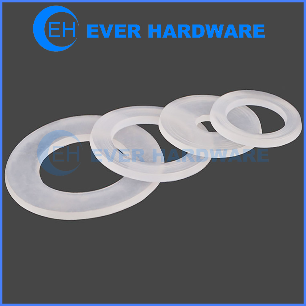 Plastic Washers For Screws Flat Nylon Spacer Ring Fastener Pads