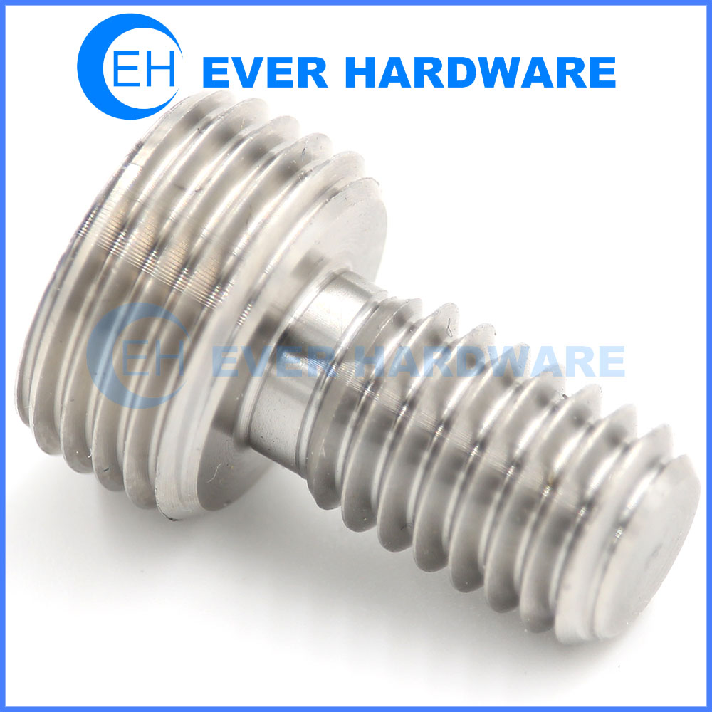 Screw Shaft Precision Double Ended Thread Axial Fasteners Machining
