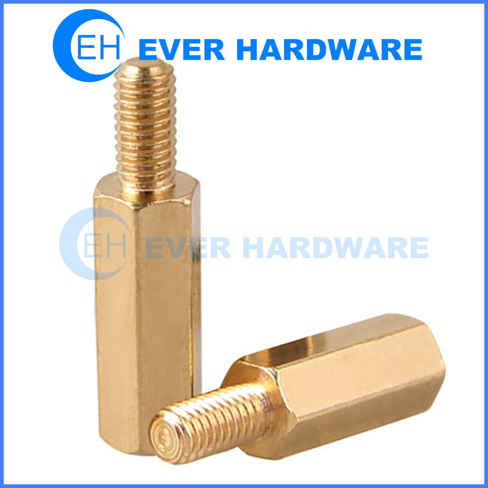 Screw Spacers Metal Brass PC Bolts Thread Pillar Tubing Connectors