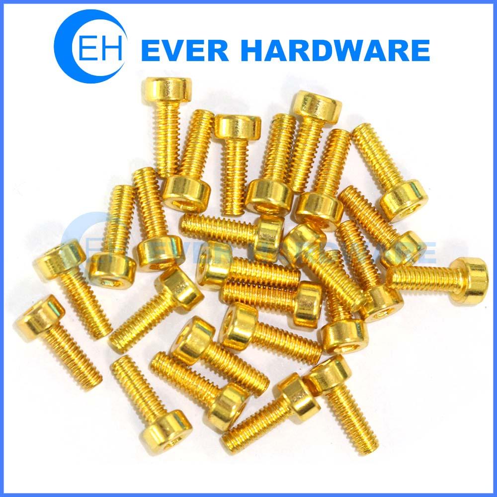 Small Brass Screws Square Jet Cheese Allen Custom Machine Thread
