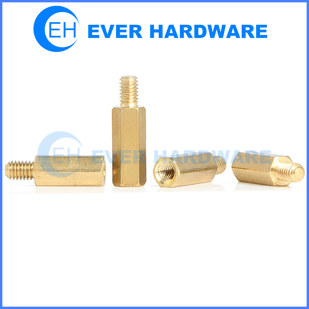 Spacers And Standoffs Metric Panel PCB Hex Brass Aerospace Hardware