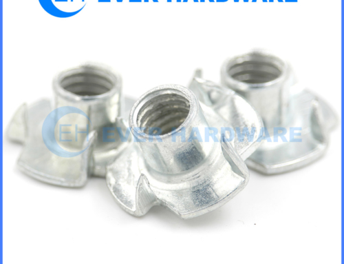 Stainless Steel Tee Nuts 4 Pronged Barrel For Climbing Holds SS Nut