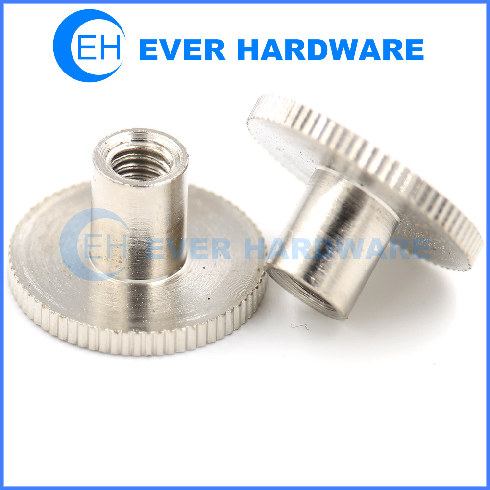 Stainless Tee Nuts Without Prong Knurling Inserts Decoration Hardware