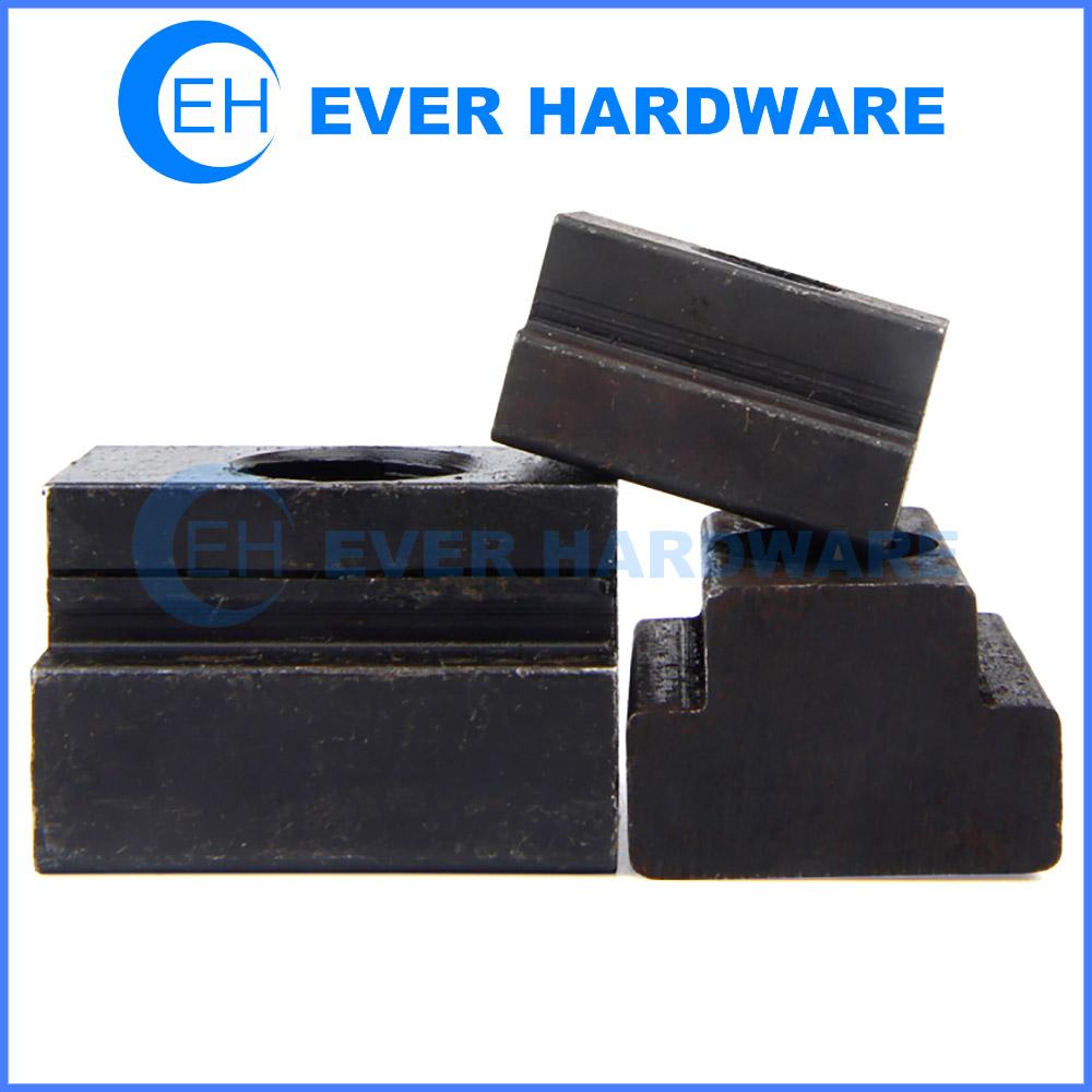 T Slot Nut Thread Clamping Black Oxide Heavy Duty Step Furniture Lock